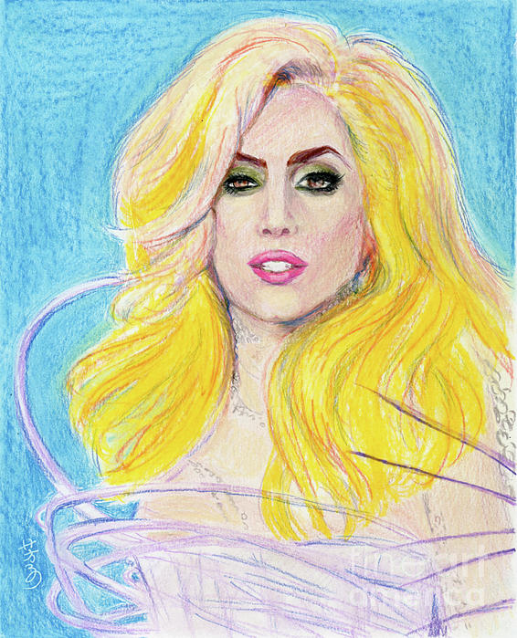 Lady Gaga Drawing - Lady Gaga Fine Art Print