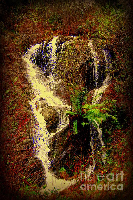 Lake Shasta Waterfall 3 Photograph  - Lake Shasta Waterfall 3 Fine Art Print