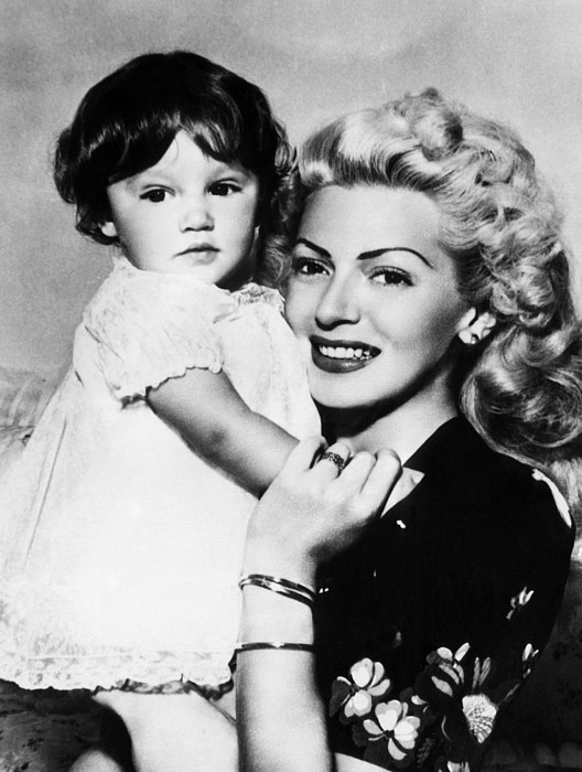 1940s Photograph - Lana Turner Right, And Daughter Cheryl by Everett