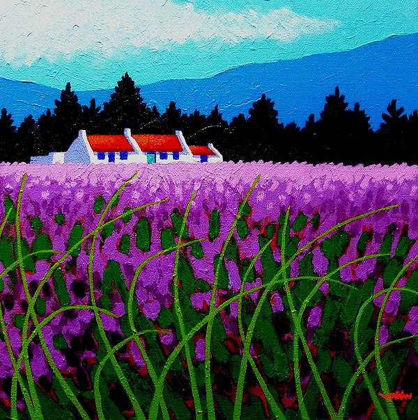 Lavender Field - County Wicklow - Ireland Painting  - Lavender Field - County Wicklow - Ireland Fine Art Print