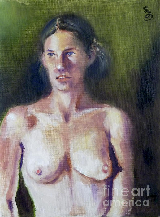 Yoshiko Mishina - Long Pose 5  oil
