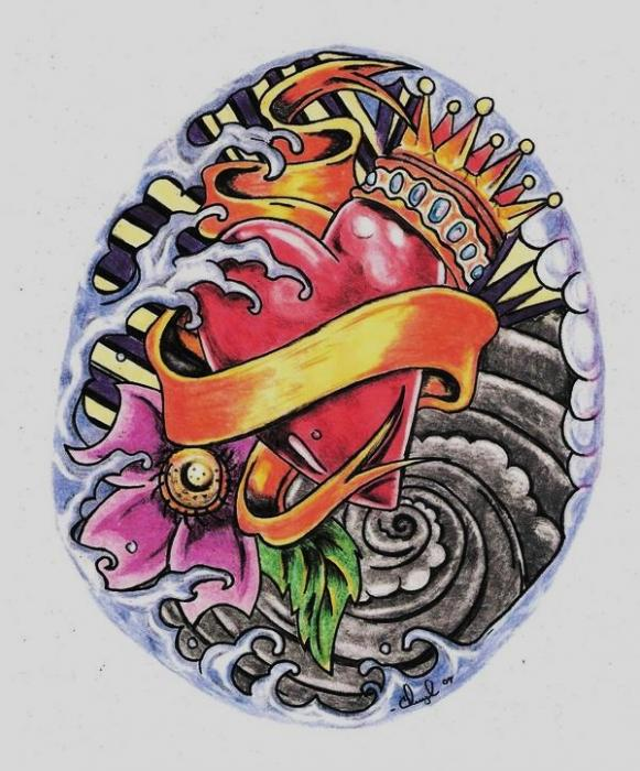 Tattoo Drawings of Hearts
