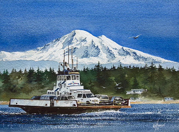 James Williamson - Lummi Island Ferry and Mt Baker