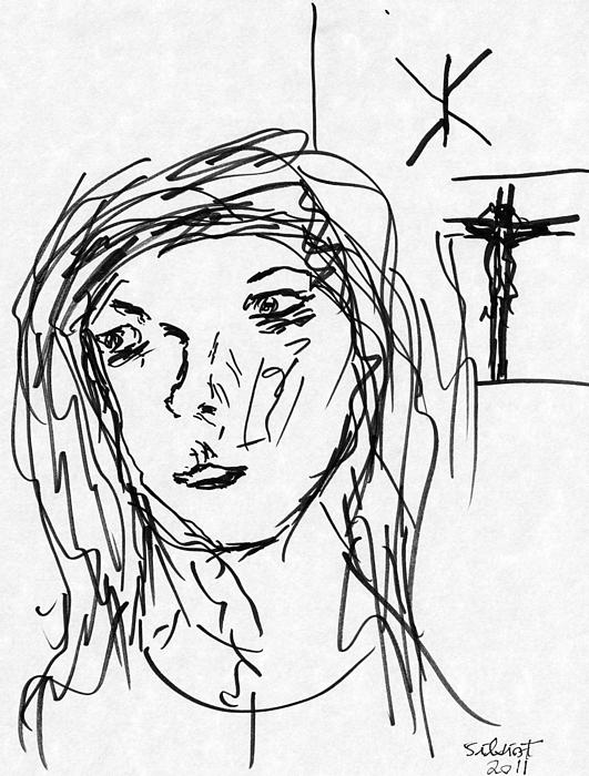 Pictures Of Jesus. Bride of Jesus Drawing - Mary