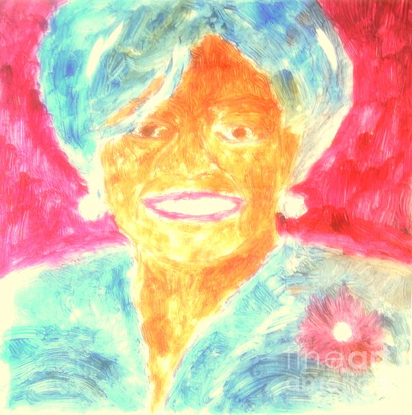 Michelle Obama 2 Painting  - Michelle Obama 2 Fine Art Print