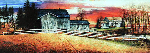 Mill Creek Farm Painting  - Mill Creek Farm Fine Art Print