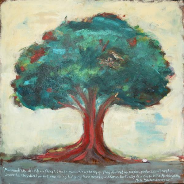 quotes on painting. Mockingbird Tree Painting