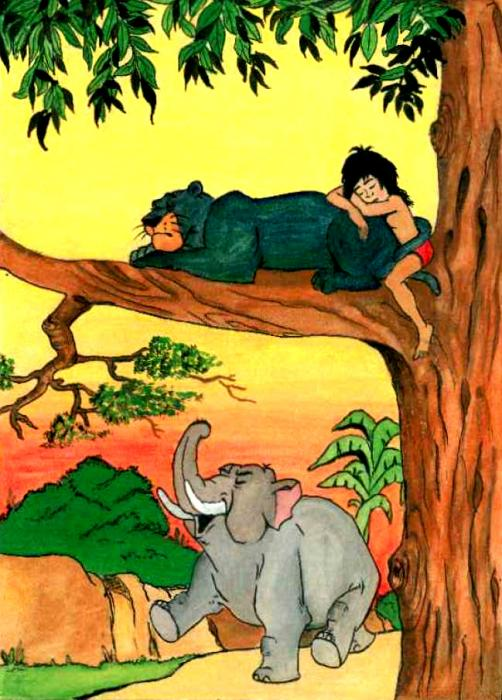Mogli - The Jungle Boy Painting by Rakesh Kushwaha - Mogli - The ...