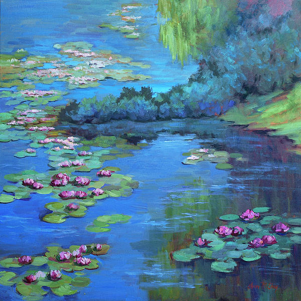 Monet's Garden is a painting by Diane McClary which was uploaded on ...
