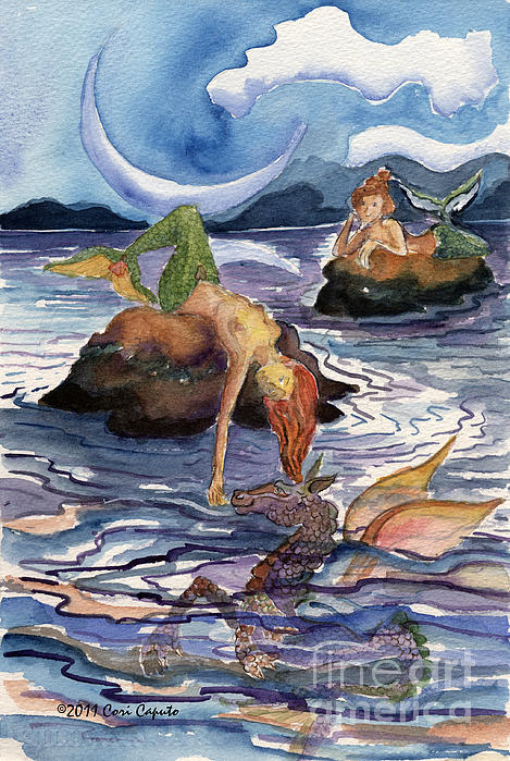 Cori Caputo - Moonrise at Mermaid Rock