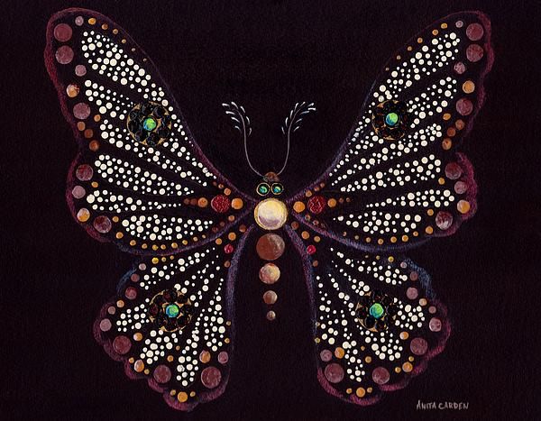 Mosaic Butterfly Painting  - Mosaic Butterfly Fine Art Print