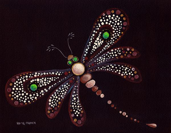 Mosaic Dragonfly Painting  - Mosaic Dragonfly Fine Art Print