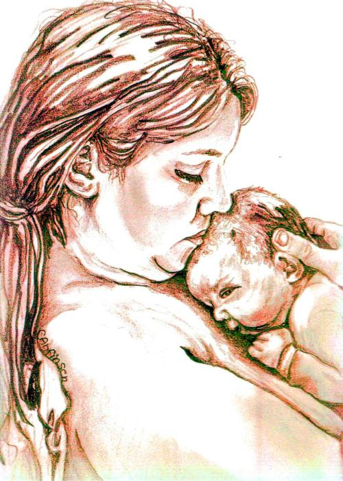 Carol Allen Anfinsen - Mother and Child 1