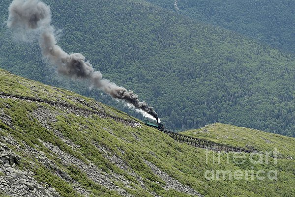 Mount Washington Cog Railroad In New Hampshire Usa Photograph  - Mount Washington Cog Railroad In New Hampshire Usa Fine Art Print