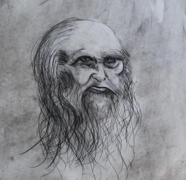 my version of da Vinci Drawing by Ian Fruehauf