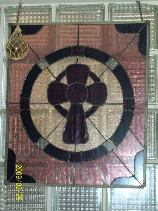 Mystic Cross Glass Art by Nancy Caccioppo - Mystic Cross Fine Art ...