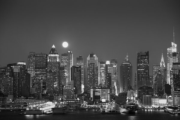 Andria Patino - New York in Moonlight