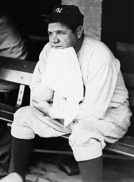 1920s Photograph - New York Yankees. Outfielder Babe Ruth by Everett