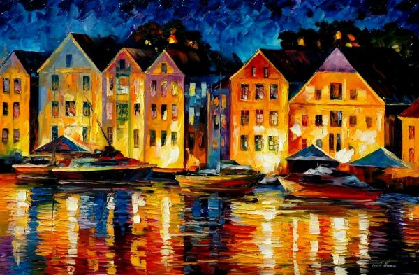 Night Resting Original Oil Painting Painting - Night Resting Original Oil