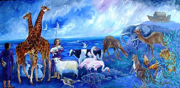 Noahs Ark - After the Flood Painting by Trudi Doyle - Noahs Ark ...