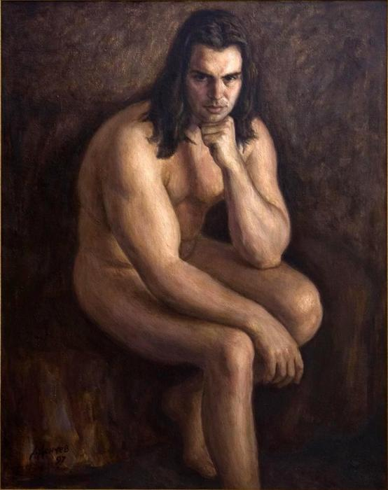 Nude man Painting by Dionisii