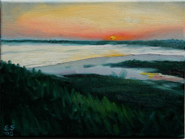 ocean sunset pictures. Ocean Sunset No.1 Painting