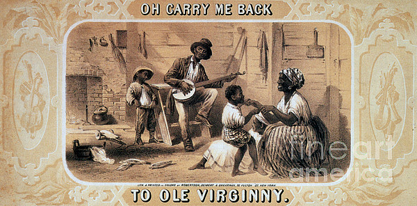 History Photograph - Oh Carry Me Back To Ole Virginny, 1859 by Photo Researchers