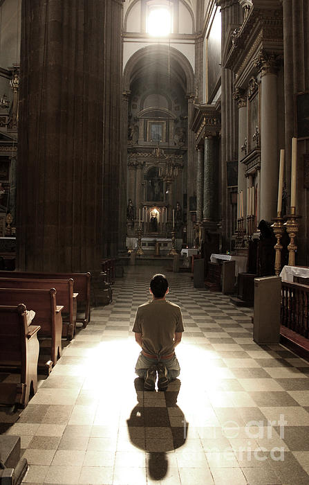 On My Knees In Prayer Photograph