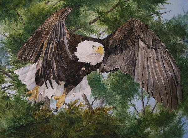 With Wings Like Eagles. On Wings Like Eagles Painting