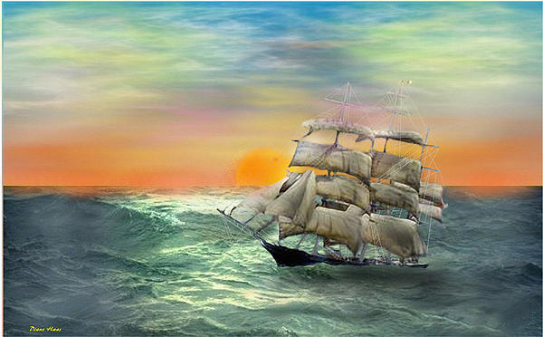 Open Seas Digital Art  - Open Seas Fine Art Print