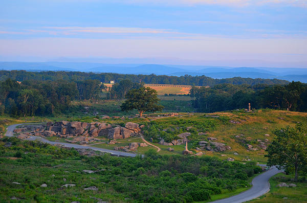 Overlook Of The Gettysburg Battlefield Photograph  - Overlook Of The Gettysburg Battlefield Fine Art Print