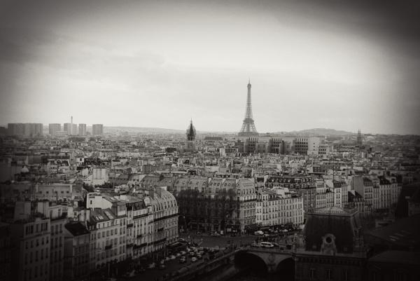 Paris Skyline Photograph - Paris Skyline Fine Art Print