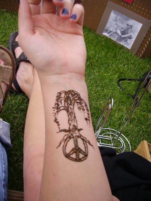 Peace Tree Drawing by Henna Tattoos Ogden Utah. Tags: henna body art