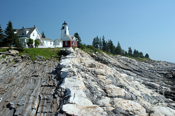 Pemaquid Point Light Photograph - Pemaquid Point Lighthouse by Ted Kinsman