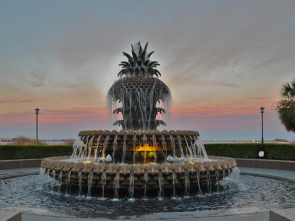 Pineapple Fountain Waterfront Park Charleston Sc Photograph  - Pineapple Fountain Waterfront Park Charleston Sc Fine Art Print