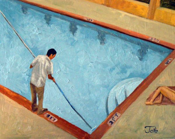 Pool guy Painting Pool guy