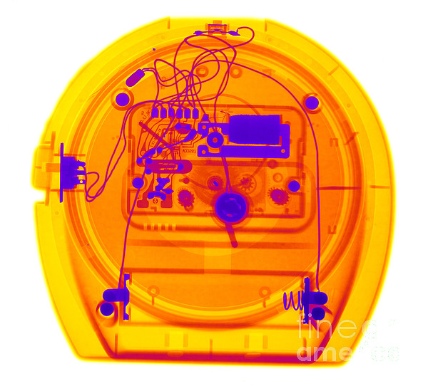 Science Photograph - Portable Clock by Ted Kinsman