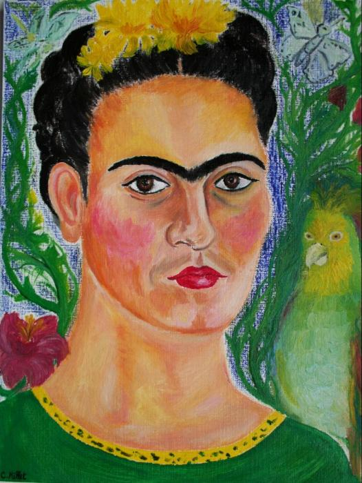 frida kahlo paintings. Portrait of Frida Kahlo