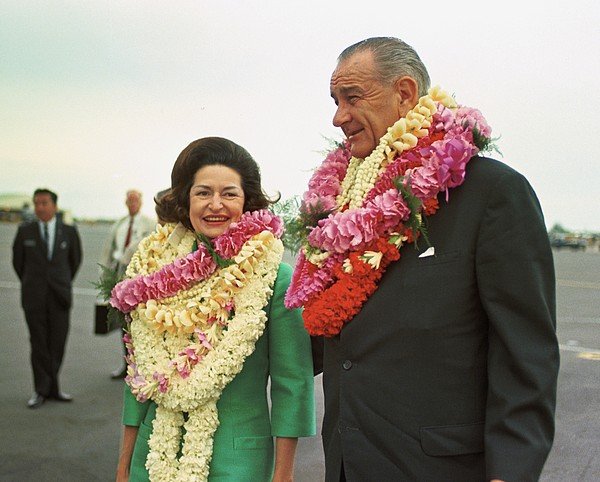 History Photograph - President And Lady Bird Johnson Wearing by Everett