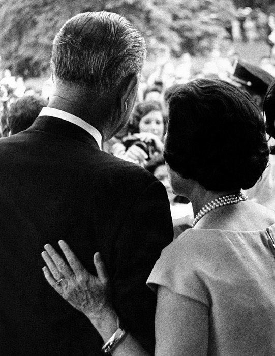 History Photograph - President Lyndon Johnson And Wife Lady by Everett