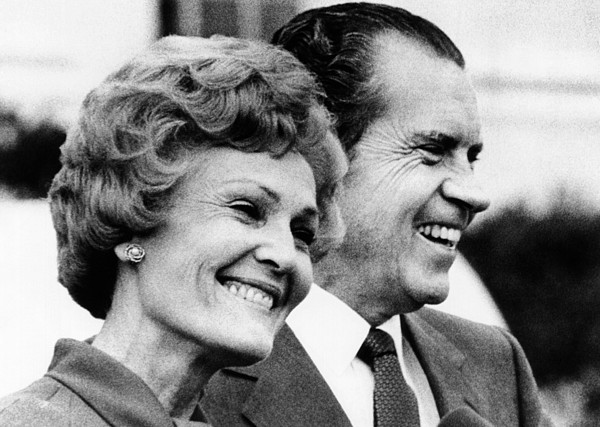 History Photograph - President Richard Nixon And First Lady by Everett