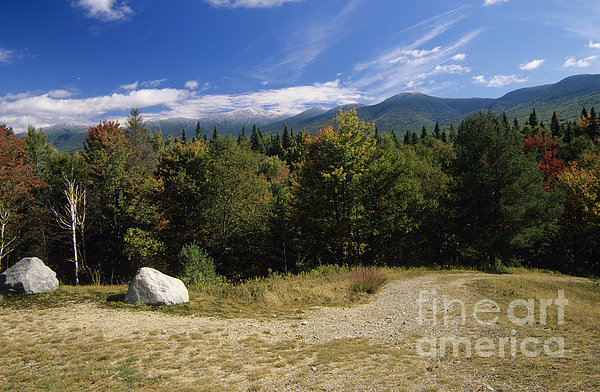 Presidential Range In The White Mountains Nh Usa Photograph  - Presidential Range In The White Mountains Nh Usa Fine Art Print