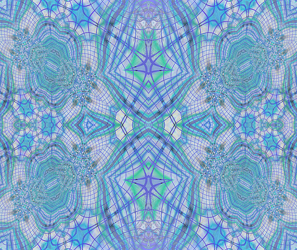 Pretty Blue Digital Art  - Pretty Blue Fine Art Print
