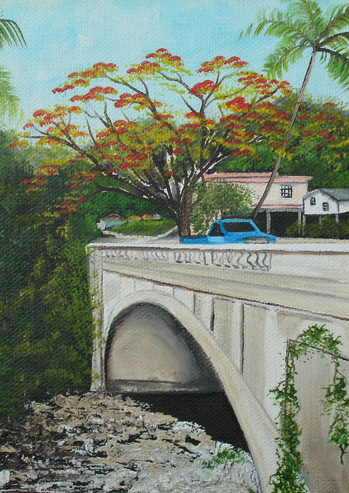 Puente En Adjuntas Painting  - Puente En Adjuntas Fine Art Print