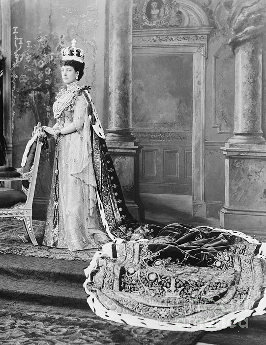 History Photograph - Queen Alexandra, 1902 by Omikron