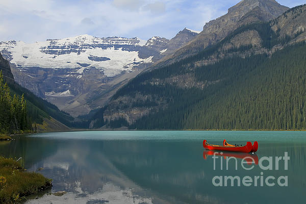 Teresa Zieba - Red Canoes on Lake Louise