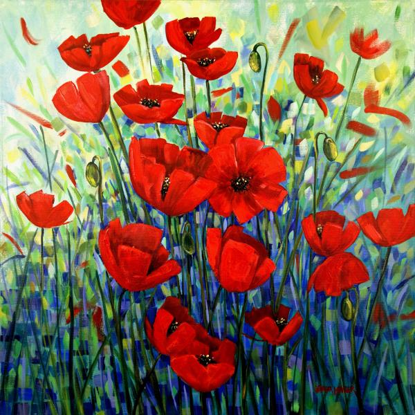 purple cool color red RED poppies