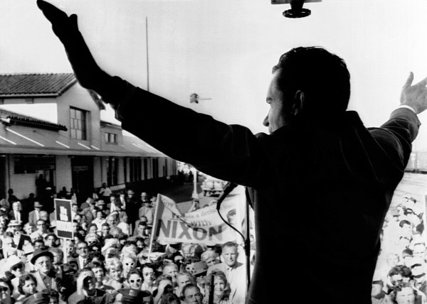 History Photograph - Richard Nixon Campaigning For Governor by Everett