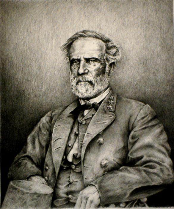 robert e lee. Robert E.Lee Drawing - Robert