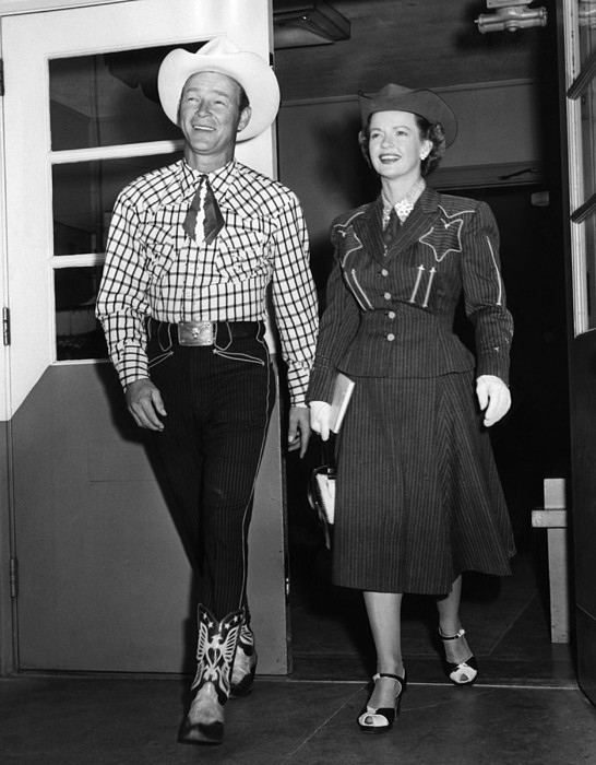 1950s Candids Photograph - Roy Rogers, And His Wife Dale Evans by Everett